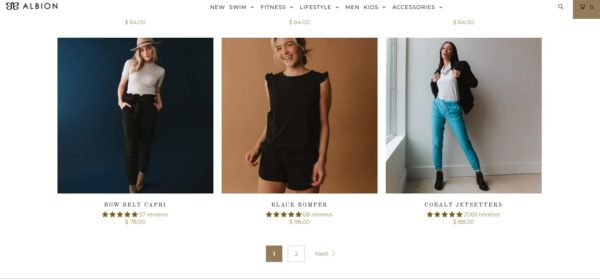 Example of Pagination on Ecommerce Category Page